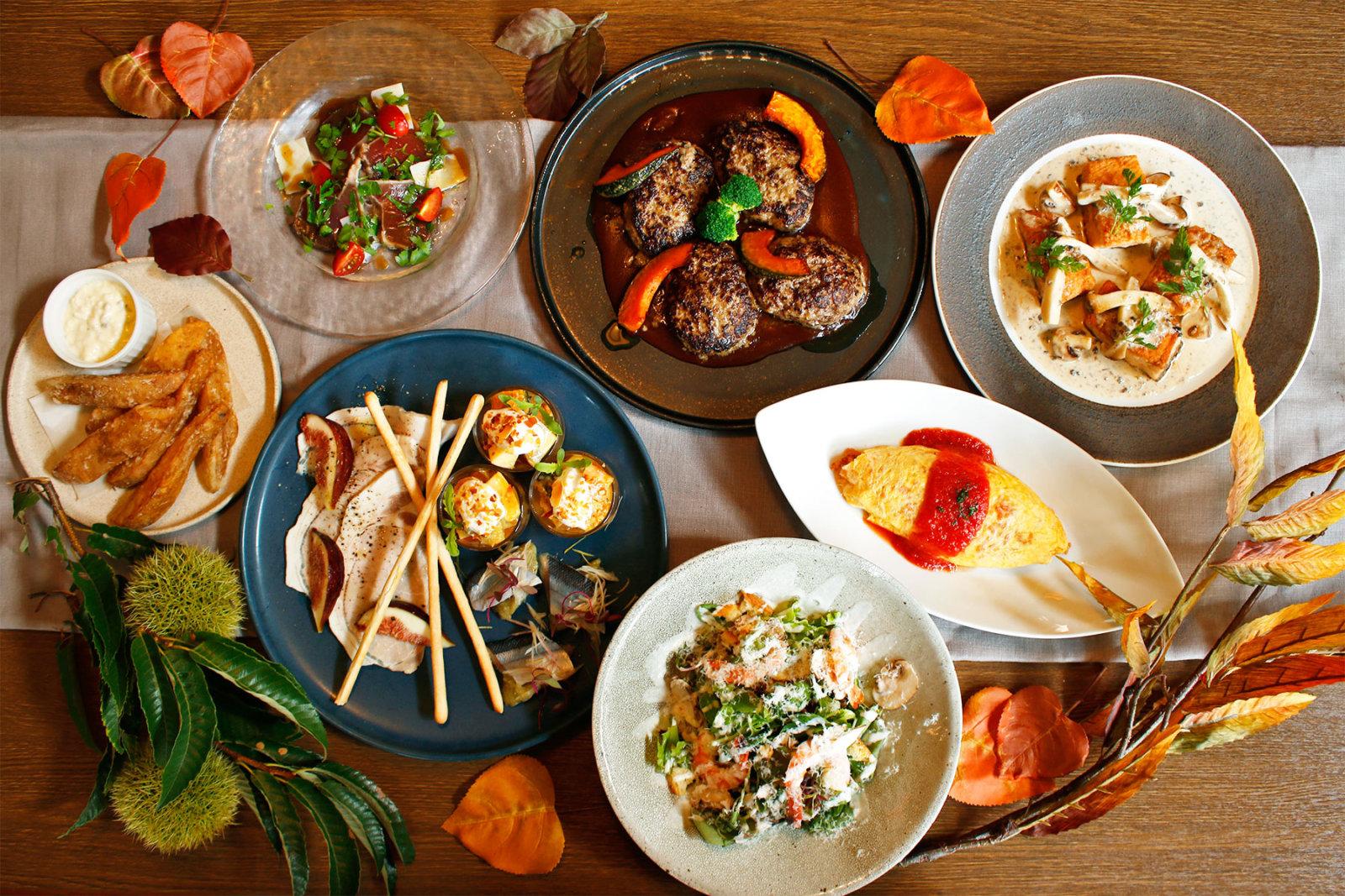 神戸牛挽肉ハンバーグと秋の味覚を、神戸ならではの洋食で楽しもう。<br><br>/洋食屋 神戸デュシャン