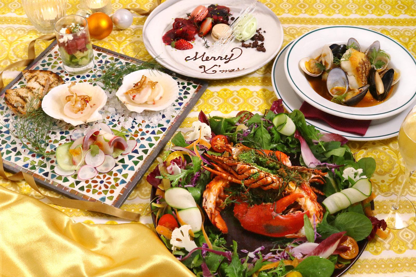 食べられるクリスマスリースがテーブルを彩る!恵比寿『シロノニワ』期間限定でX'masシェアコースを提供