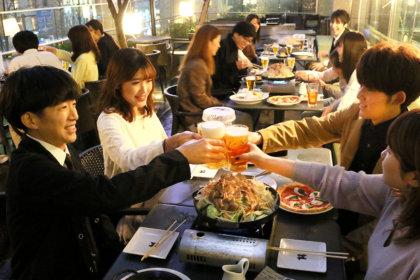 <組数限定>春のテラス×コエドビールで乾杯!『東京ビアホール&ビアテラス14』テラス席限定ジンギスカンプラン、3/2(月)スタート! <br><br>/