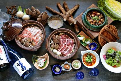 この冬、自然薯とろろ鍋が新しく。<br>青森県産本鴨ロース、群馬県産上州三元もち豚。プレミアム食材を召し上がれ。<br>withコロナにおひとりずつのコースも。<br><br>/黒十 神戸本店