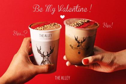 あなたの特別な一杯になりたい!お茶に恋をする本格派ティーストア「THE ALLEY」より、バレンタイン限定ドリンク『ショコラキャラメルミルクティー』が1月14日(木)から販売開始!<br><br>/THE ALLEY
