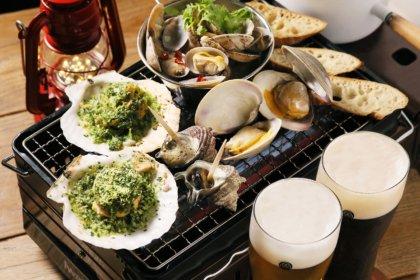 網焼き&ビールで乾杯!『東京ビアホール&ビアテラス14』より、秋期限定「網焼きテラスセット」が10/12(火)よりスタート!