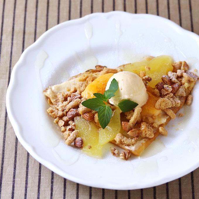 林檎とナッツのブリュレクレープ カルヴァドスの香り