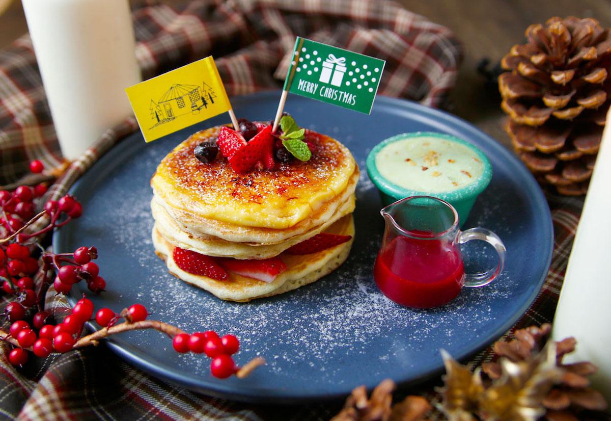 イチゴのクレームブリュレ・クリスマスパンケーキ