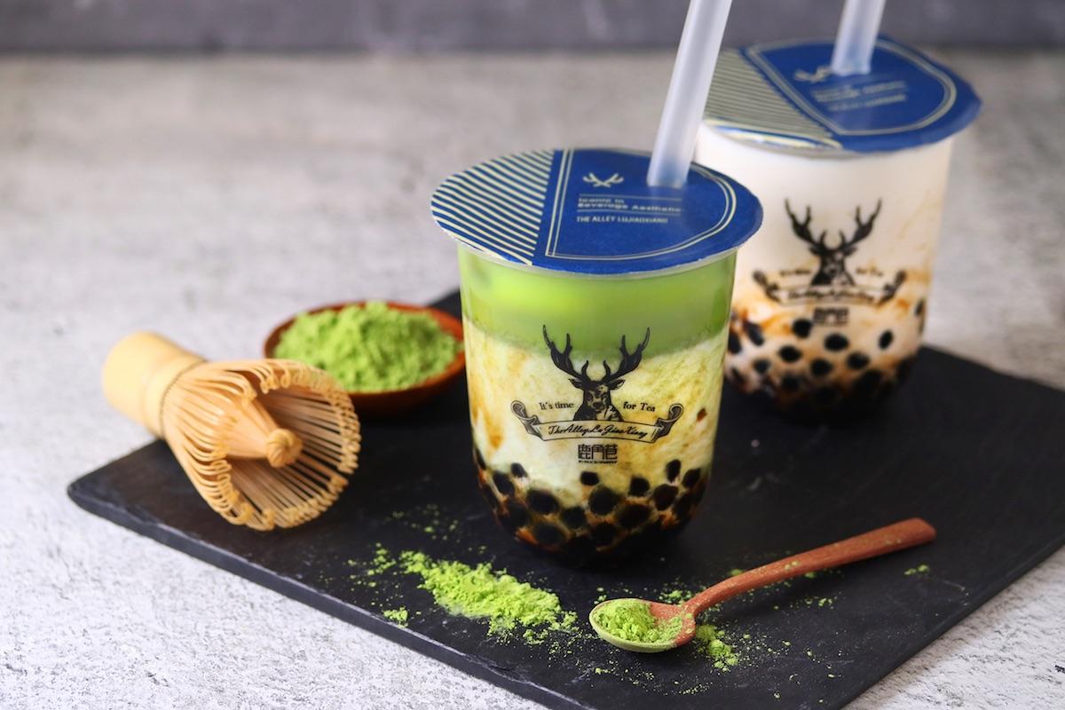 台湾発の本格派ティースタンド「THE ALLEY」黒糖タピオカシリーズに『黒糖抹茶ラテ』が新登場!