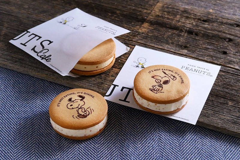 数量限定! テイクアウトメニューに、スヌーピーのアートが入った『アイスサンドクッキー』が新登場!