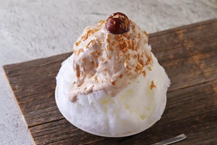 栗とマロンクリームのふわとろかき氷