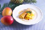 トロピカルフルーツたっぷりのロールクレープ&マンゴーラッシーが、夏季限定で登場!