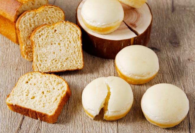 TOOTHTOOTHパラダイスキッチンの「大豆粉の食パン」と「生塩糀パン」